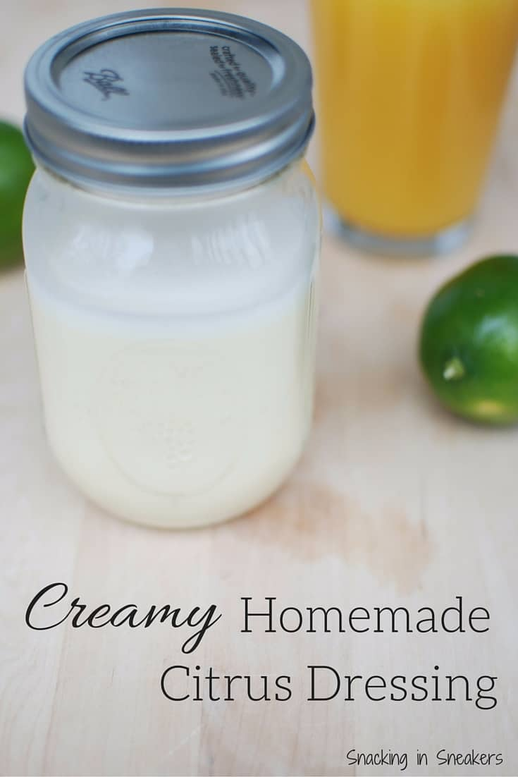 This homemade creamy citrus salad dressing is perfect for a big ol salad with salmon or chicken as the protein pairing!
