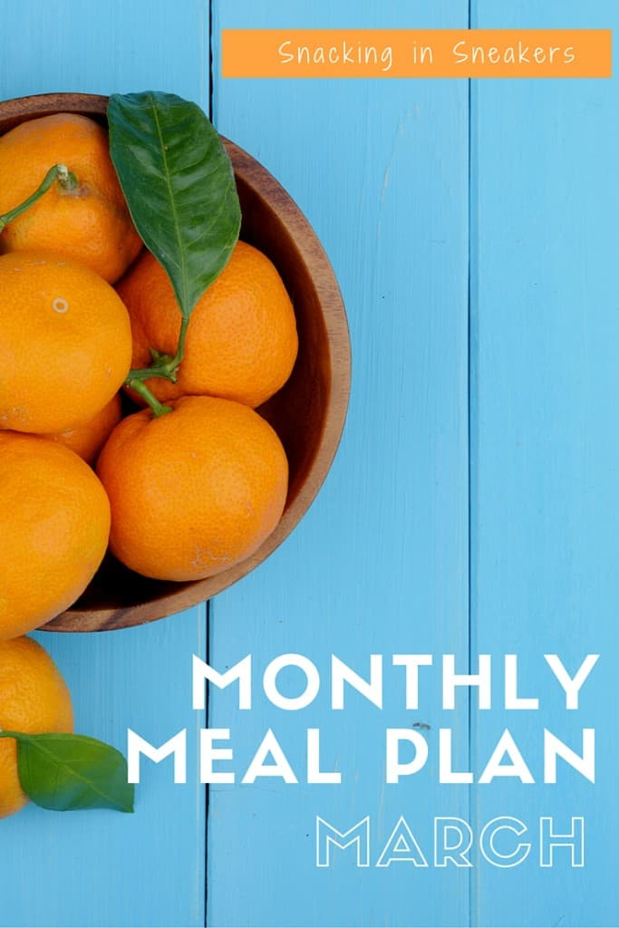 Monthly Meal Plan for March!
