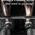 YES! These 5 strength training myths need to be put to rest...from 'lifting will make you bulk up' to 'a pound of muscle burns 50 calories a day' - this post busts common myths!