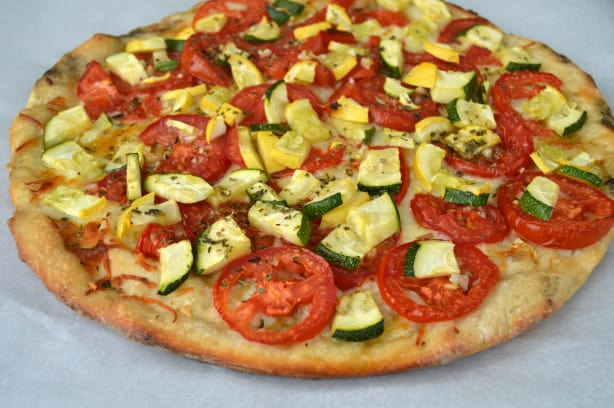Inside Out Summer Vegetable Pizza
