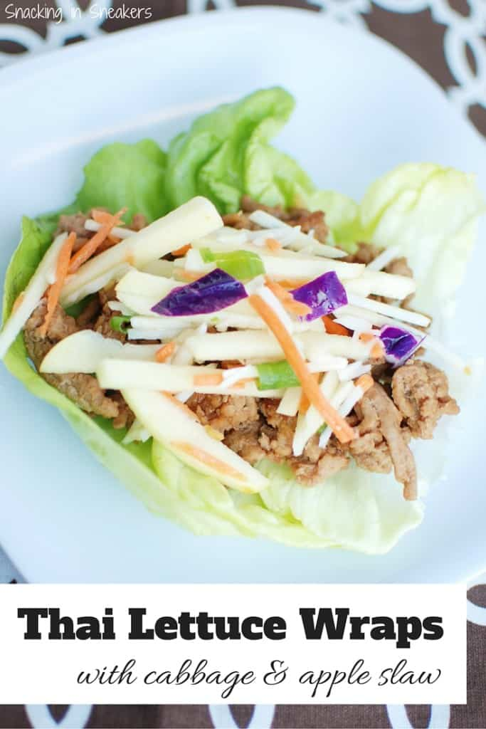 Thai Lettuce Wraps with Cabbage Apple Slaw