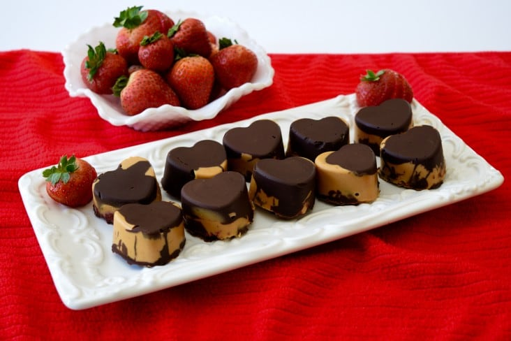 Chocolate Peanut Butter and Strawberry Jam Cups
