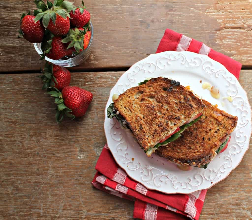 Strawberry Basil Grilled Cheese