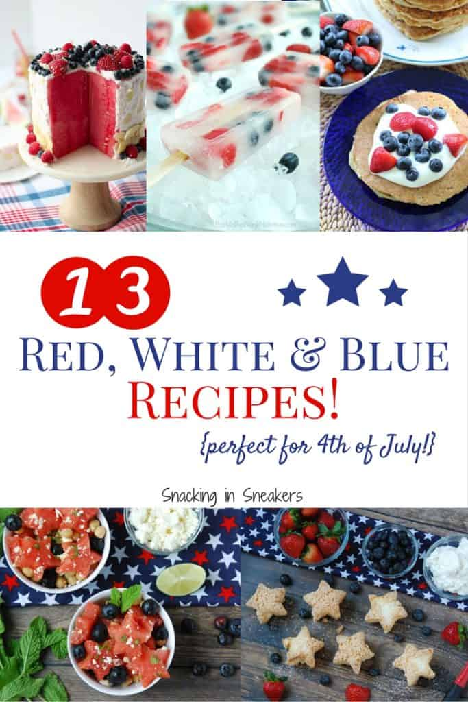 13 Red, White and Blue Recipes! {Perfect for 4th of July}