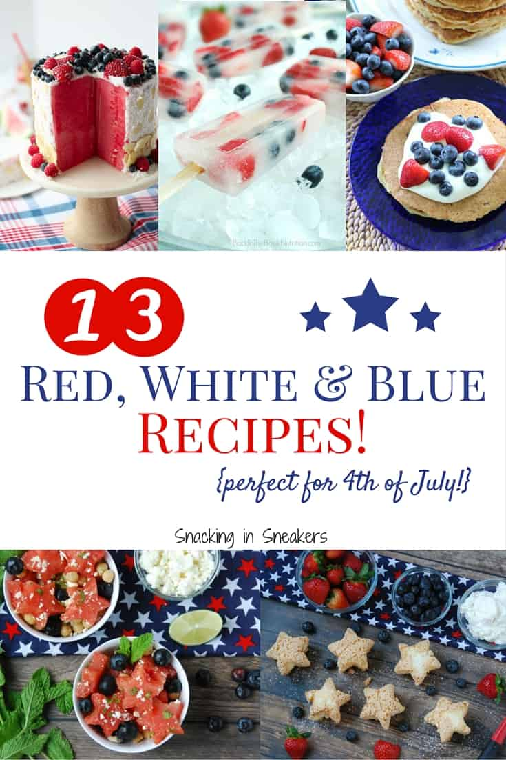 These red white and blue recipes are perfect for your Memorial Day, July 4th and Labor Day cookouts! You'll find main dishes as well as healthier desserts.