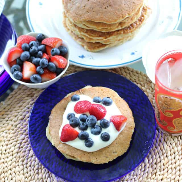 Patriotic Protein Pancakes