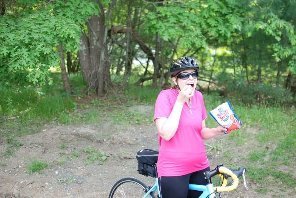 Soy Vay Snacking on Bike
