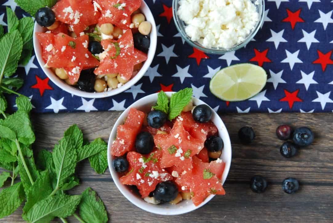 Watermelon Chickpea Salad