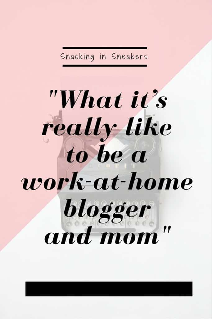 Sometimes people think blogging and social media are always glamorous careers - this post just shows how it can be tough - but rewarding - to balance family life with working at home!