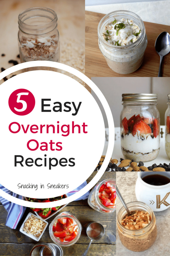 Want a quick breakfast that requires just a smidge of prep work at night for something you can grab-and-go with in the AM? Try these 5 tasty overnight oats recipes! Perfect healthy breakfast options for hectic mornings.