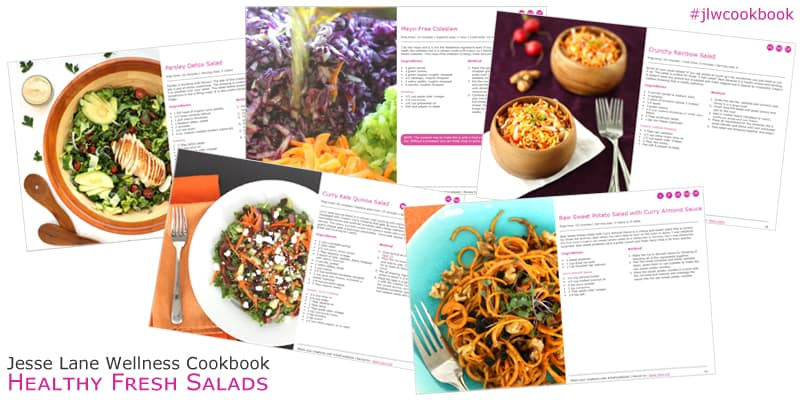 The Healthy Fresh Salads cookbook has tons of healthy, delicious recipes to try!