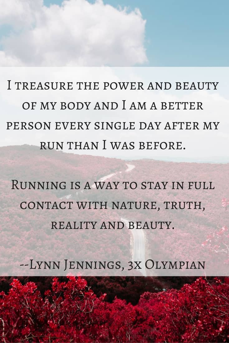 I love these words of wisdom from Olympic runner Lynn Jennings. Such powerful motivation & fitness inspiration for runners!