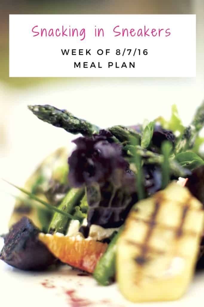 Weekly Meal Plan – 8/7 – 8/13
