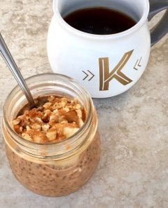 Peanut butter mocha overnight oats