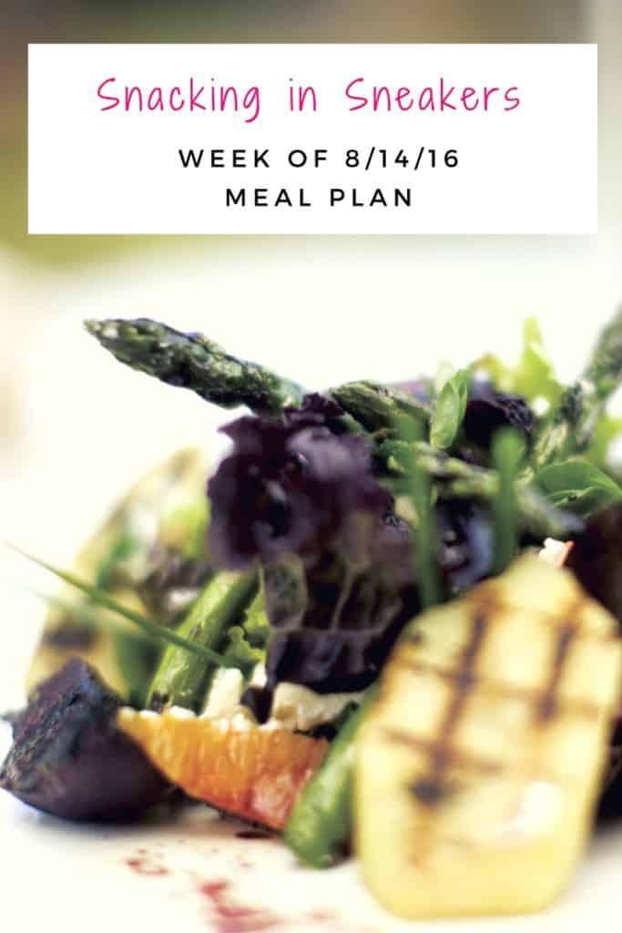 Weekly Meal Plan – 8/14 – 8/20
