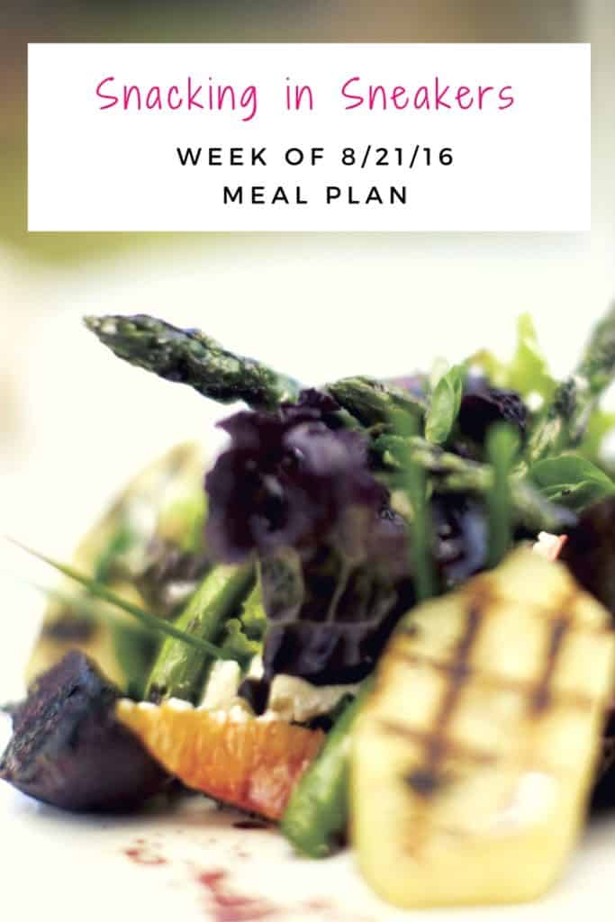 Weekly Meal Plan – 8/21 – 8/27
