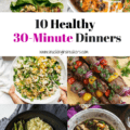 Scrambling around each night trying to find something to cook quickly? These 10 healthy 30 minute recipes are perfect for dinner on nights when time is limited! From seafood stew to lettuce wraps to chili, you can be sure you'll find something that fits your needs.
