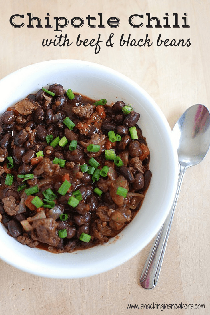 This chipotle chili with beef and black beans is flavorful and full of protein. A great healthy recipe cooked in under 30 minutes.