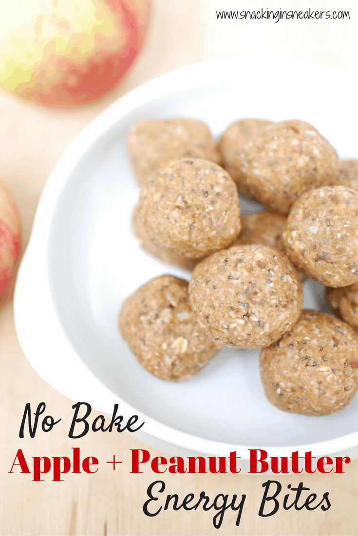 No bake apple peanut butter oatmeal balls