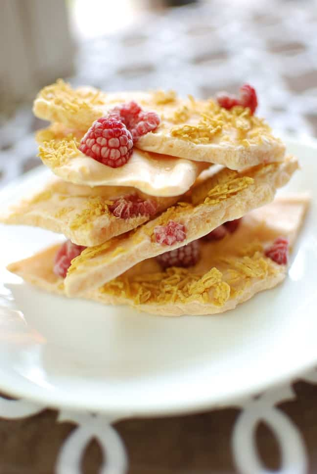 This pumpkin greek yogurt bark is a perfect fall snack or addition to your breakfast! At just 133 calories per serving, this baby still packs in 9 grams of protein. Such a great healthy recipe!