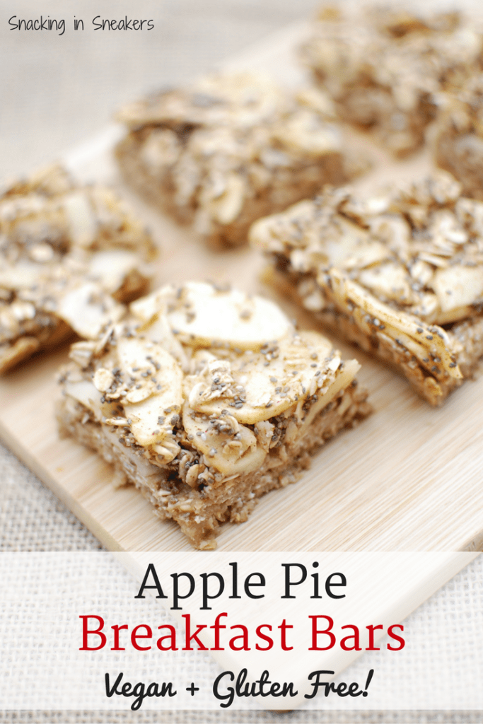 Apple Pie Breakfast Bars {Vegan + Gluten Free}