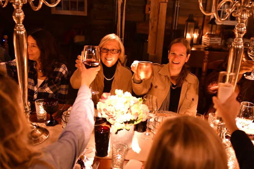 Harvest Dinner at Gilmore home in Rochester MA, Friday, Oct. 7, 2016. (Josh Reynolds/AP Images for Ocean Spray)