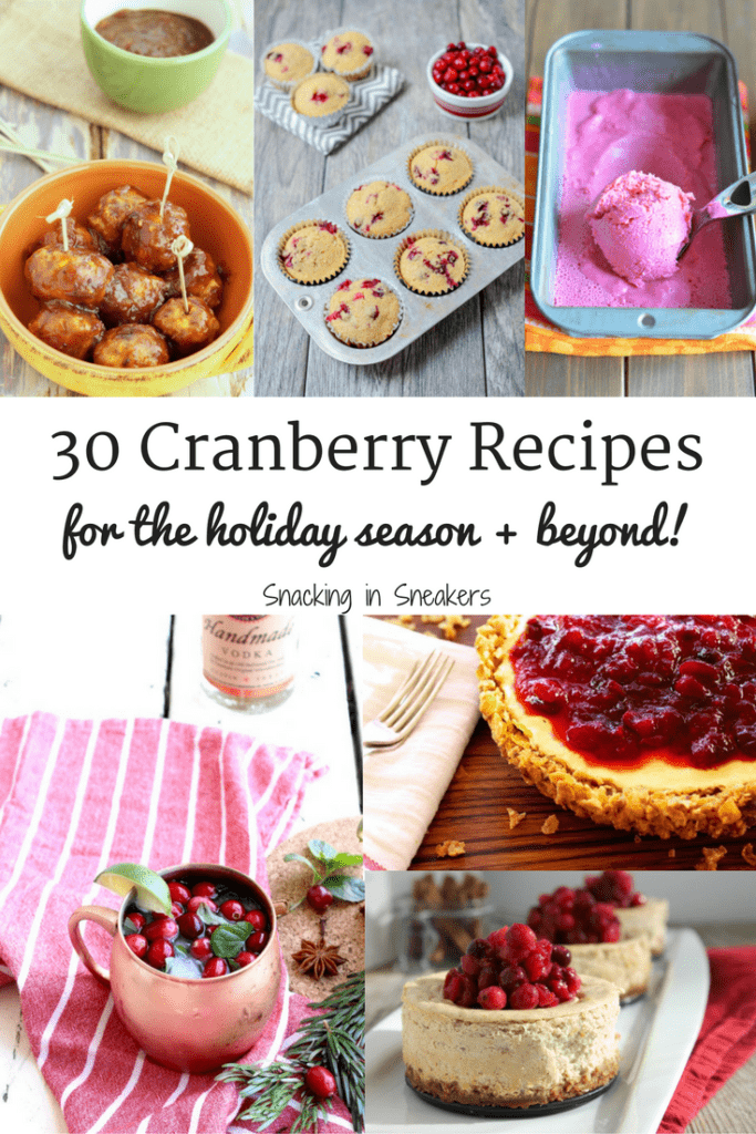 30 Cranberry Recipes for the Holiday Season (and beyond!)