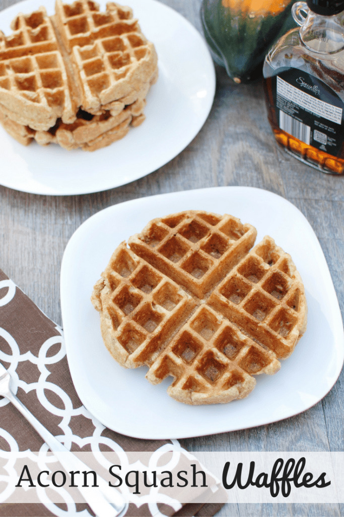 These acorn squash waffles are a perfect family breakfast on a cold winter morning! They're healthier than most waffle recipes since they're whole grain and contain a vegetable – plus they are easy to whip up quickly.