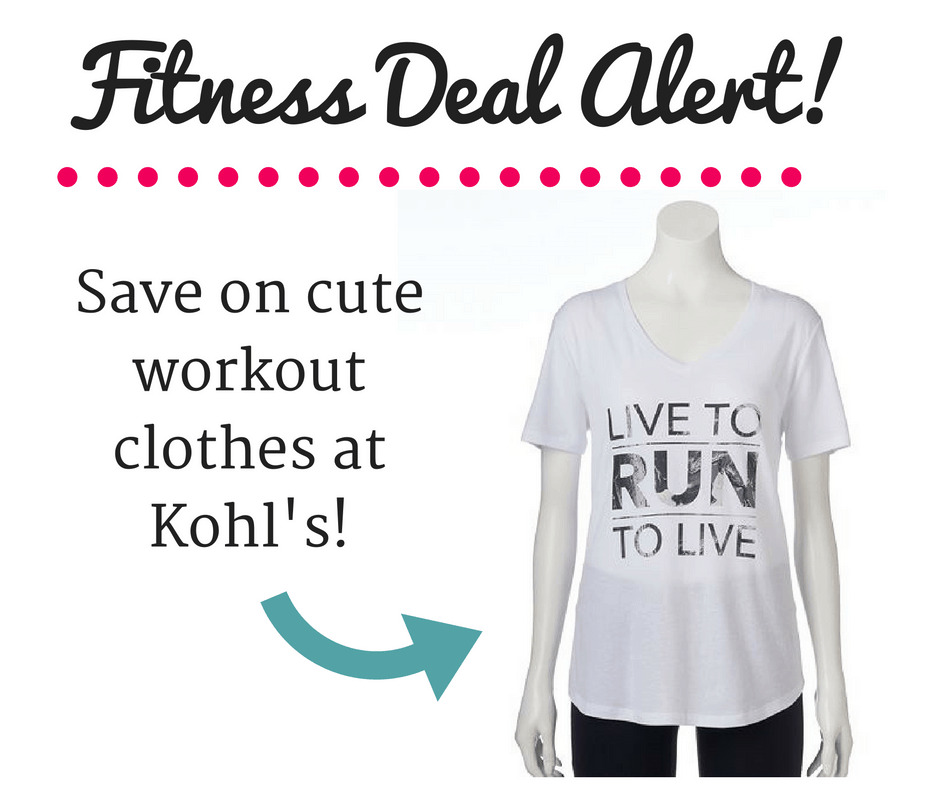 Fitness Deals on Workout Clothes at Kohl's