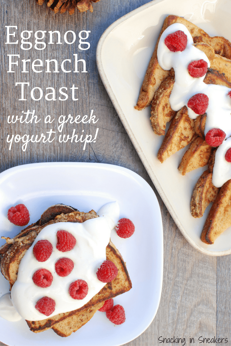 Eggnog French Toast Makes A Delicious Holiday Breakfast For The Family!  It's Festive For Christmas