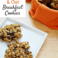 Cookies for breakfast? You betcha! These healthy pumpkin breakfast cookies are a great option for a morning meal for runners and triathletes, and they're also vegan and gluten free!
