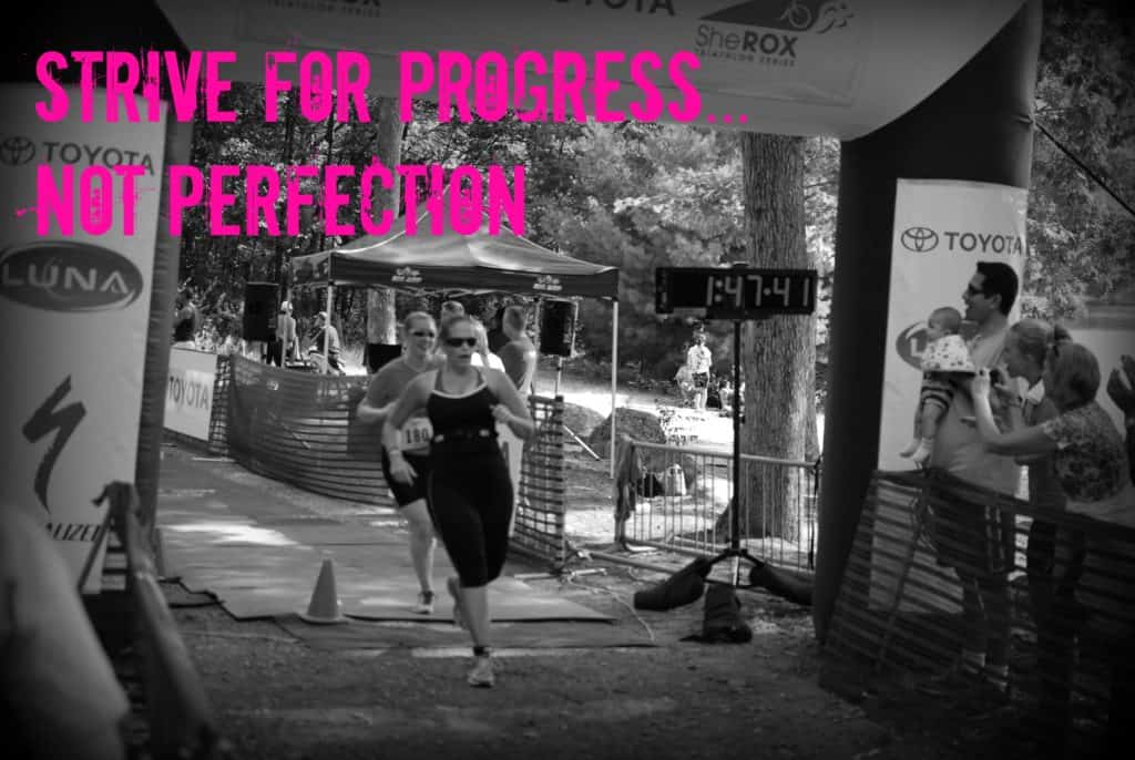 Workout Motivation Quotes - Strive for Progress, Not Perfection