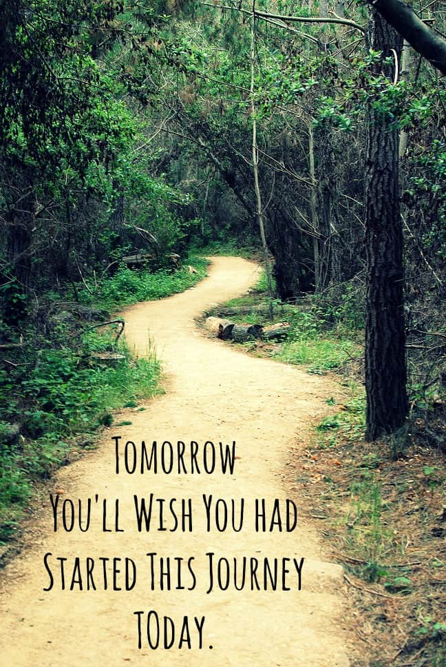 "Love these workout motivation quotes! ""Tomorrow you'll wish you had started this journey today."""