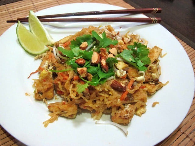 Spicy Peanut Pad Thai with Spaghetti Squash