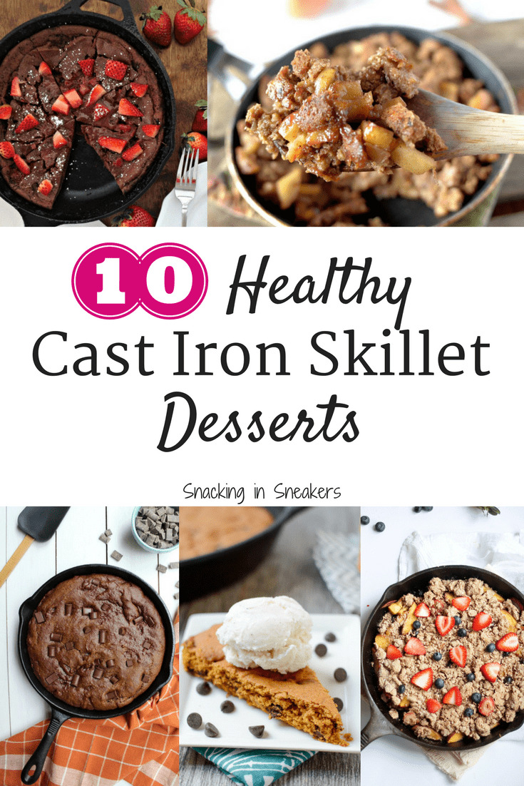 Would you believe these 10 cast iron skillet desserts are actually pretty healthy?! From cinnamon apple bread pudding to vegan cobbler to pumpkin skillet cake, I can't wait to try these all these cast iron skillet recipes.