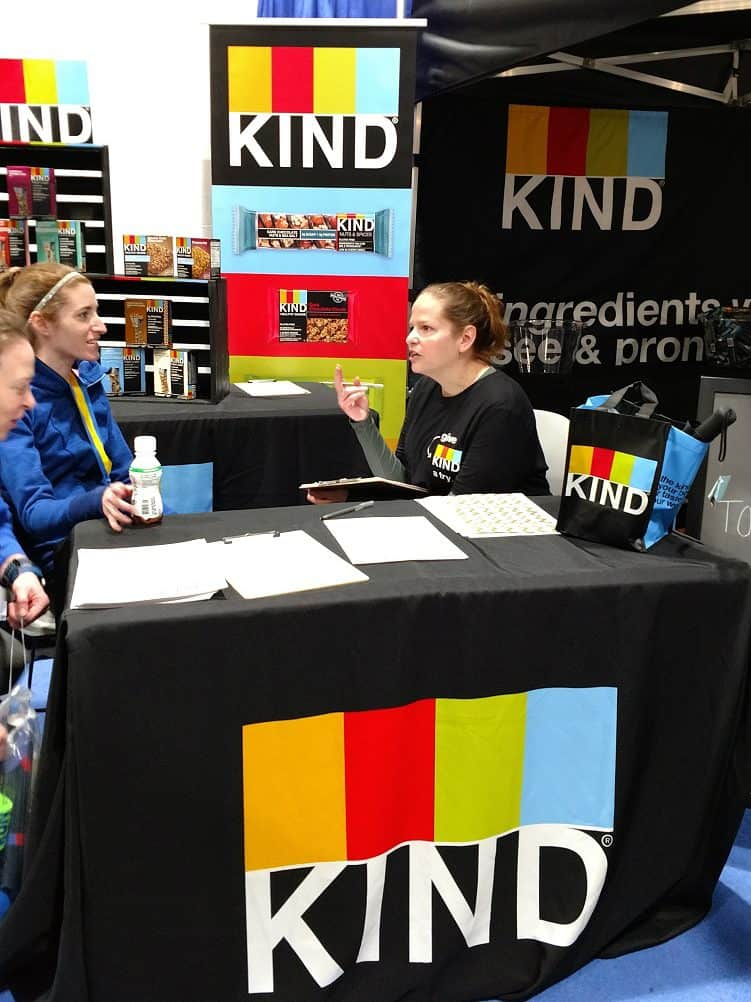 Mini Running Nutrition Consultations with KIND Snacks at the Boston Marathon Expo