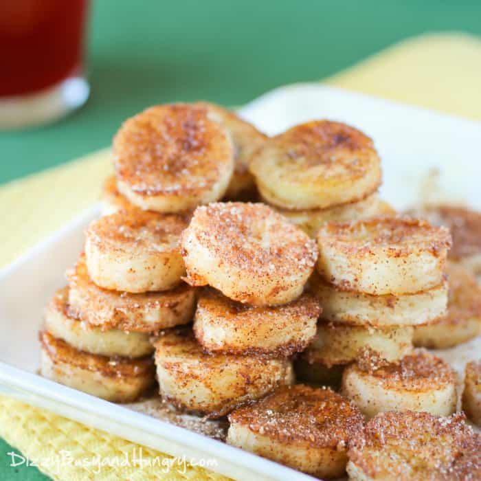 These pan fried cinnamon bananas are a perfect way to use up overripe bananas! | Healthy Dessert | Overripe Banana Recipes | Ripe Banana Recipes | Healthy Banana Recipes