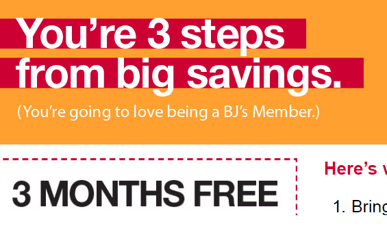 BJ's Wholesale Club Free Pass