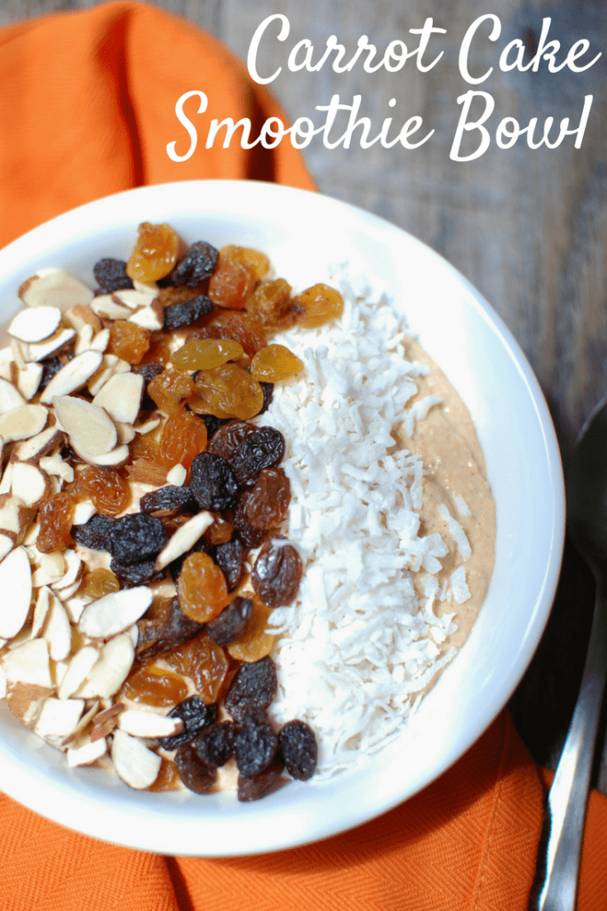 Carrot Cake Smoothie Bowl {Great Recovery Meal!}