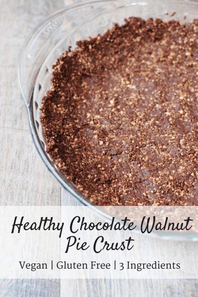 Healthy Pie Crust {Just Walnuts, Cocoa Powder, & Dates!}