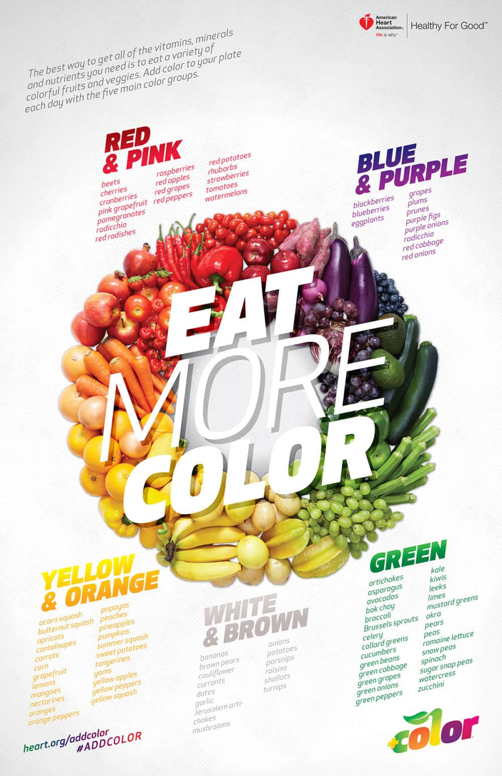Add more colorful fruits and vegetables to any runners diet for better nutrition! This infographic has great ideas.