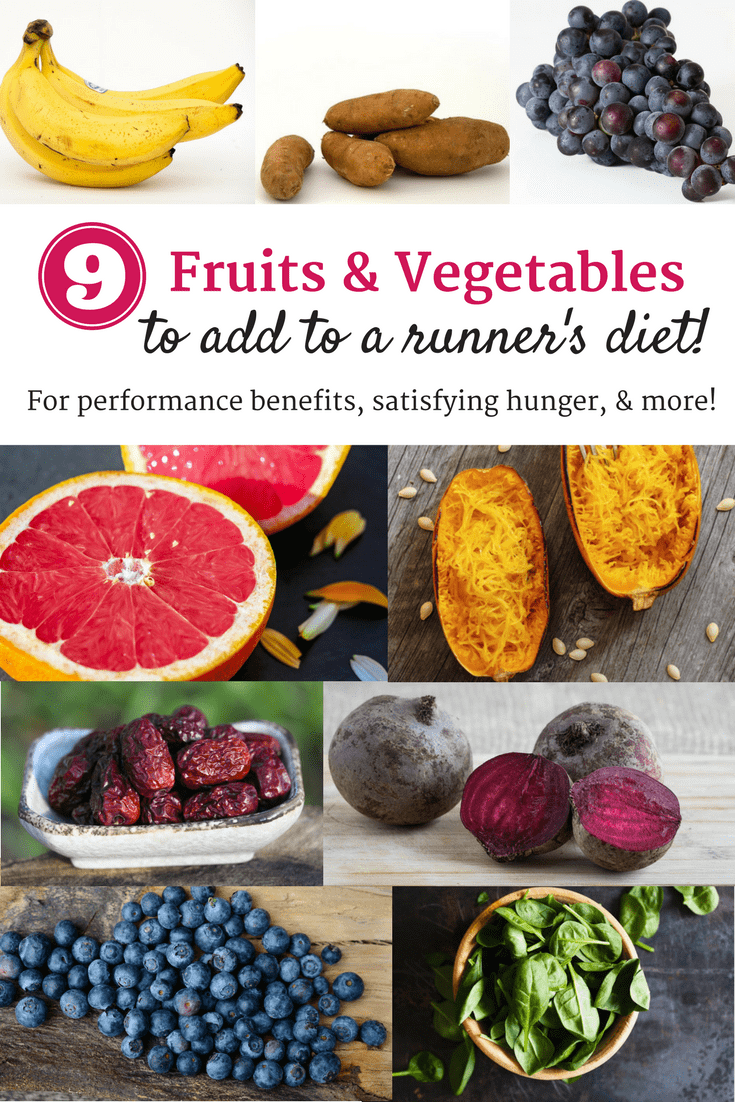 Eating a rainbow of colorful fruits and vegetables is key for any runner's diet! It can help boost performance and fuel your workouts.