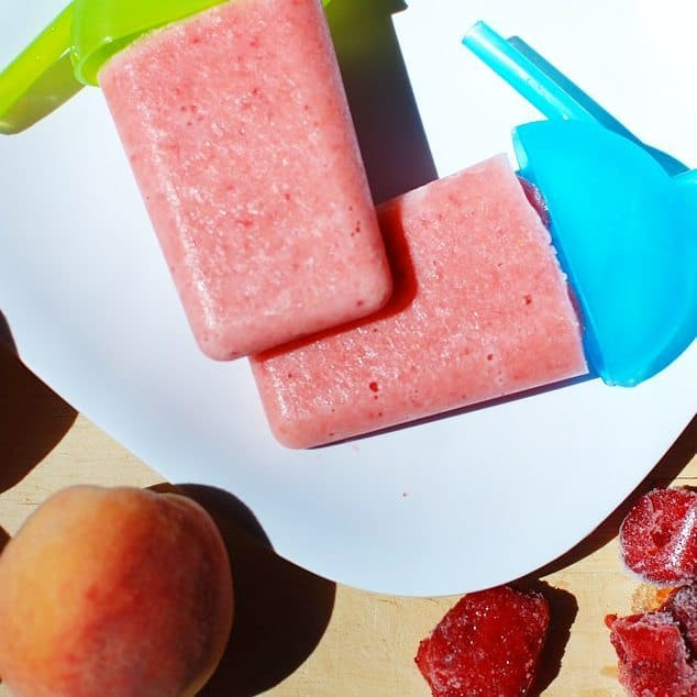 These strawberry peach popsicles are perfect for those days whenhellip