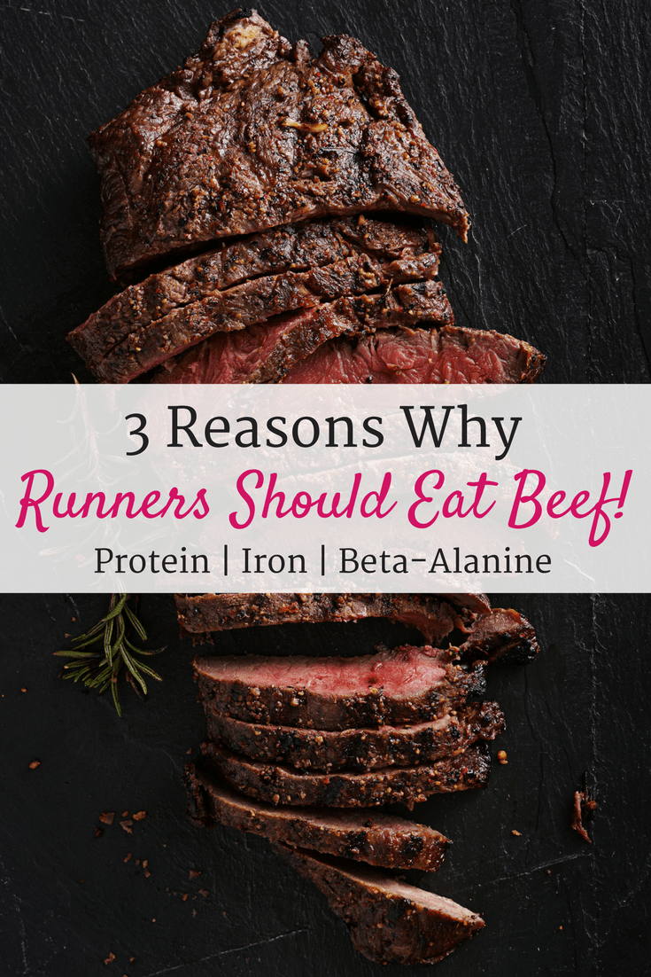 Find out how beef benefits runners in training! Beef contains three key nutrients – protein, iron, and beta alanine – that can be valuable for running.