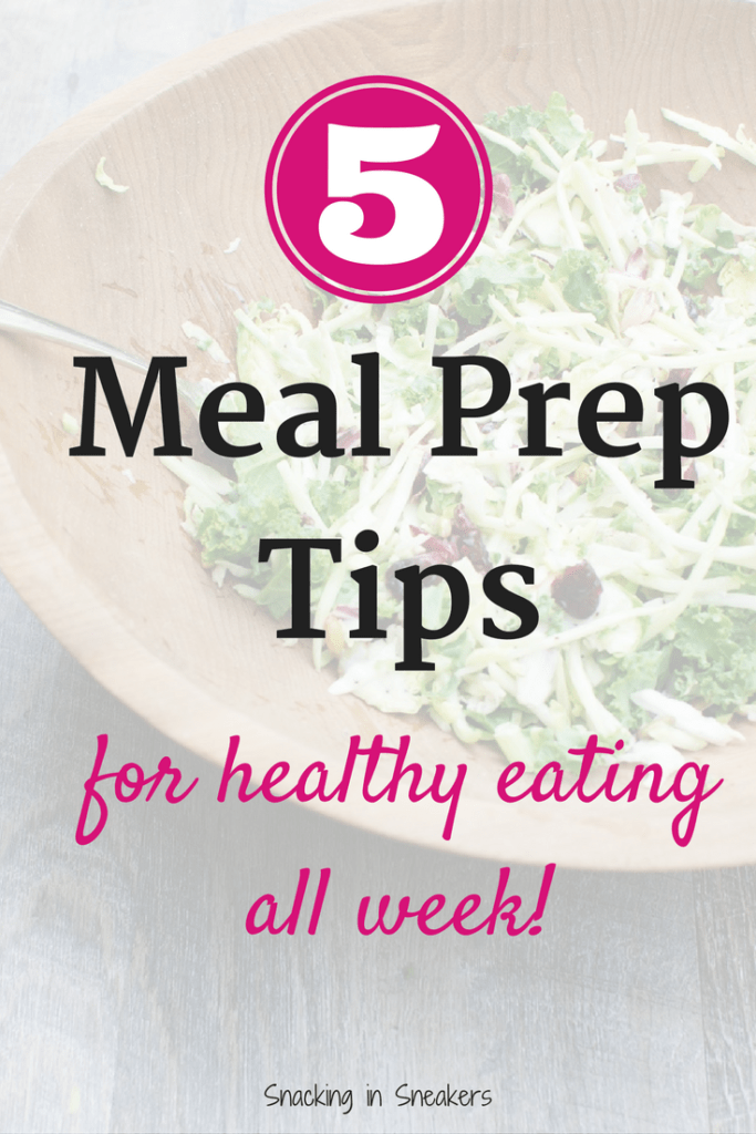 These 5 meal prep tips will help you with healthy eating all week long!
