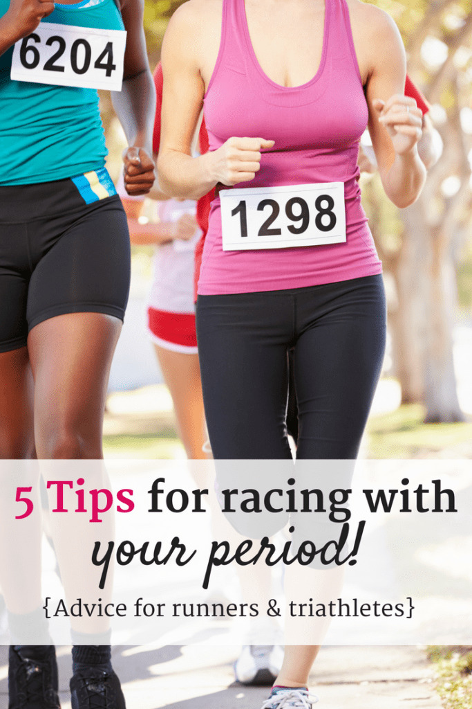 Racing during your period? Check out 5 tips for having your best road race or triathlon yet, even if it is that time of the month!