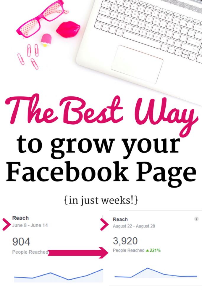 Laptop with images of facebook reach using the Moolah Marketer Facebook Course