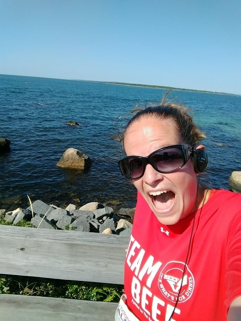 Falmouth Road Race Selfie on Course