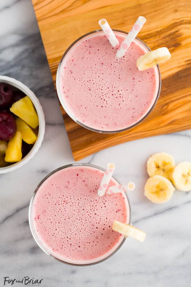 Cherry Pineapple Post Workout Smoothie