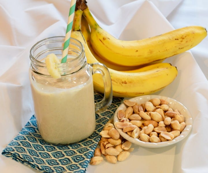 Peanut Butter Banana Post Workout Smoothie